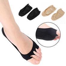 Plantar Fasciitis Arch Support Insole Pedicure Socks Massage Toe Invisible Open