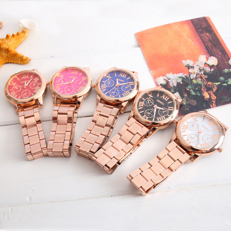 Ladies Watch Rose Gold Quartz Watch Luminous Fashion Luxury Elegant Beautiful Women Wrist Watch Steel Strap Jewelry Feminino