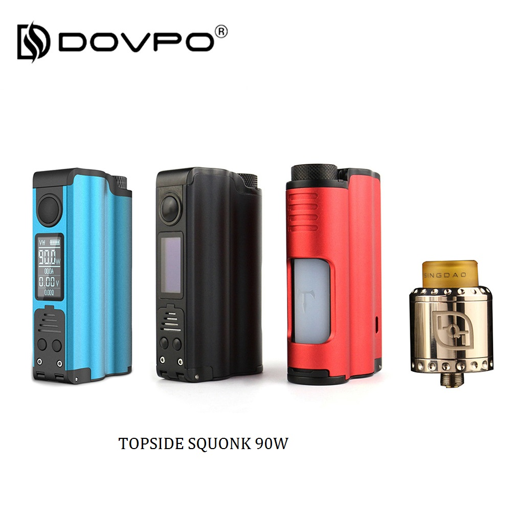 Top Filling 90W DOVPO TOPSIDE SQUONK Box Mod With LQT RDA Electronic Cigarette Box Mod Vape