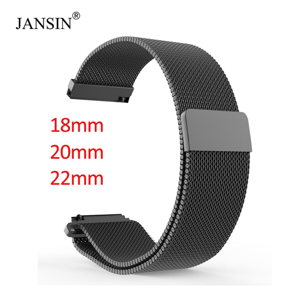18mm <font><b>20mm</b></font> 22mm Universal Milanes loop strap <font><b>watchbands</b></font> Smart Watch Metal Strap Stainless Steel watch Band men & women watches image