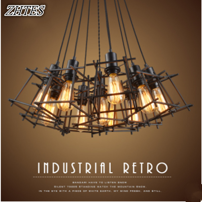 Industrial Loft Retro Iron Cafe Bar Restaurant Personalized Creative Small Iron Frame Chandelier retro cafe bar long spider lamp loft light industrial creative office the heavenly maids scatter blossoms chandelier