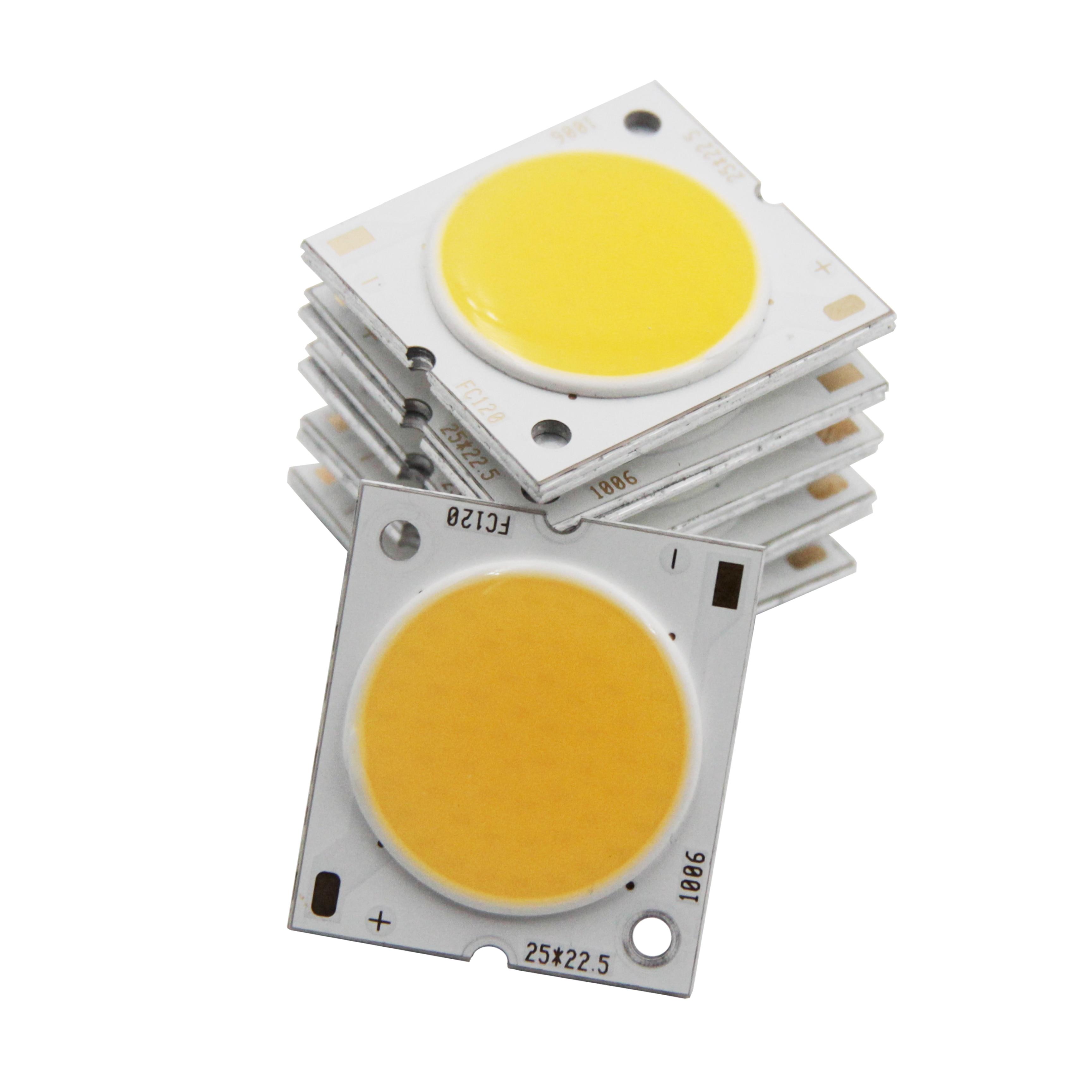 [Sumbulbs] 10 Uds. 25x23mm fuente de luz led cob chip de diodo led frío 30-33V 10W 15W 20W 30W para luz de pista de abajo bombilla de lámpara diy Luz LED de techo Yeelight 480, APP inteligente, WiFi y Bluetooth, luz de techo, control remoto para sala de estar y Google Home