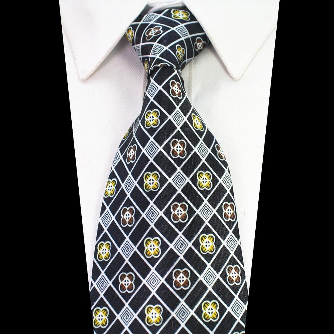 (2 Teile/paket) 10 Cm Herren Blumen Krawatten Formale Partei Geometrische Businss Krawatten E0629-005