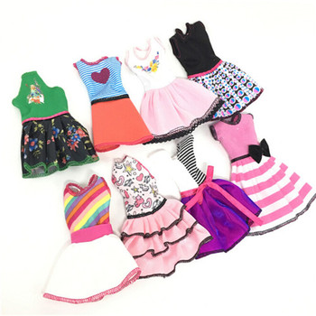 5pcs 2018 Newest Fashion Dress Beautiful Handmade Party Clothes For Barbie Doll Best Gift Toy Send By Random