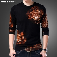 중국 스타일의 절묘한 3D 꽃 패턴 패션 캐주얼 니트 스웨터