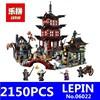 Ninja Temple Of Airjitzu Model LEPIN 06022 2150Pcs Building Kits Blocks Jay Kai Cole Bricks Compatible