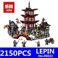 Ninja Temple Of Airjitzu Model LEPIN 06022 2150Pcs Building Kits Blocks Jay Kai Cole Bricks Compatible