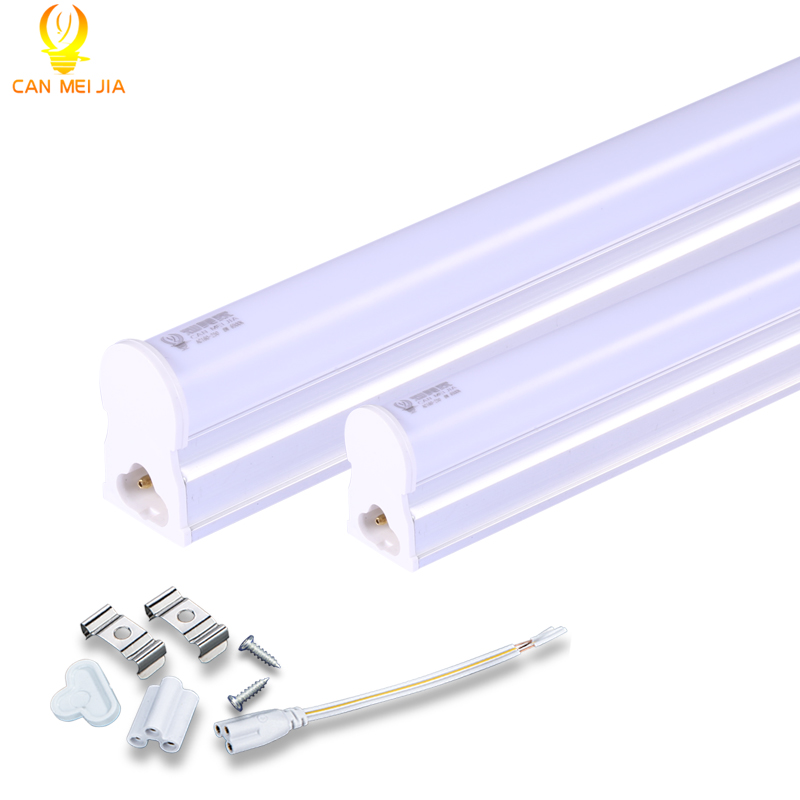 CANMEIJIA T5 Led Tube Light 220v 300mm 600mm 5W 9W 10W Wall Lamps 2ft LED T5 Tube Fluorescent Lamp Lights with free accessories high power t8 tube led 600mm tube lamp 9w 10w 2ft 3ft t8 led tube light 600mm 220v led tube fixture for home lighting