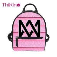 цена на Thikin Marcus And Martinus Backpack for Ladies Satchel Travel Mochila PU Mini Zipper Schoolbag Student Preppy Style Bag