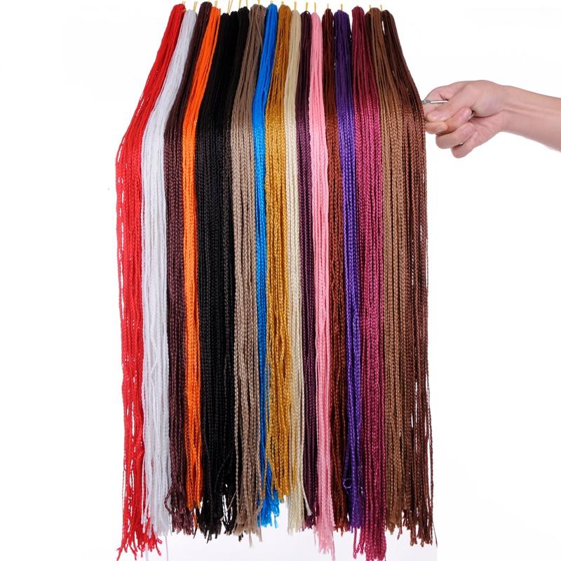 "Eunice 30"" Zizi Braids Long Box Braids Synthetic Crochet Braid Hair Extensions Purple Pink Crochet Braiding Hair Zizi Braid Hair"