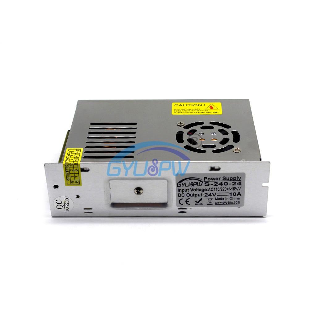 Универсальный 24V 10A 240 Вт импульсный переключатель Питание Трансформатор 110 В 220 В переменного тока до dc24V импульсивный источник питания для Светодиодные ленты светильник ing принтер