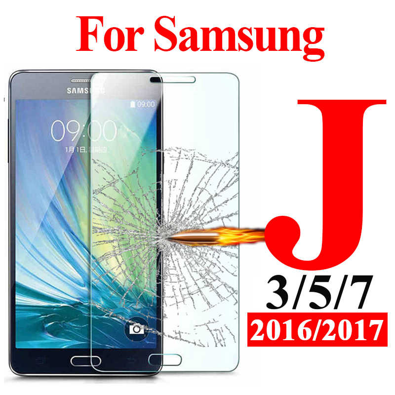 Protective Glass on the for Samsung galaxy j7 j5 j3 Pro 2017 2016 armor screen protector tempered j 7 5 3 Protection 5j 7j 3j