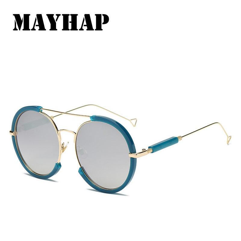 MAYHAP 2018 Mode Femmes lunettes de Soleil Miroir Rétro Hommes Lunettes de Soleil Ronde En Métal Cadre Lunettes Oculos UV400 Femme Homme Whosale