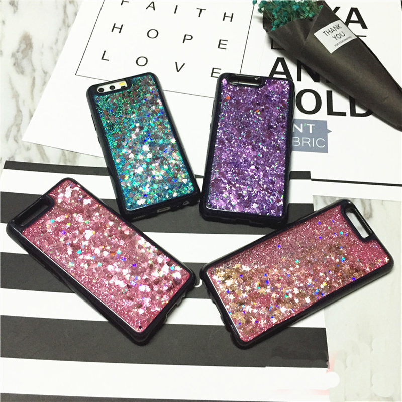 P10 Plus P10 Lite Liquid Case Coque Fundas Capa Dutiful Shine Glitter Bling Quicksand Water Sand Soft Back Case Cover For Huawei P10