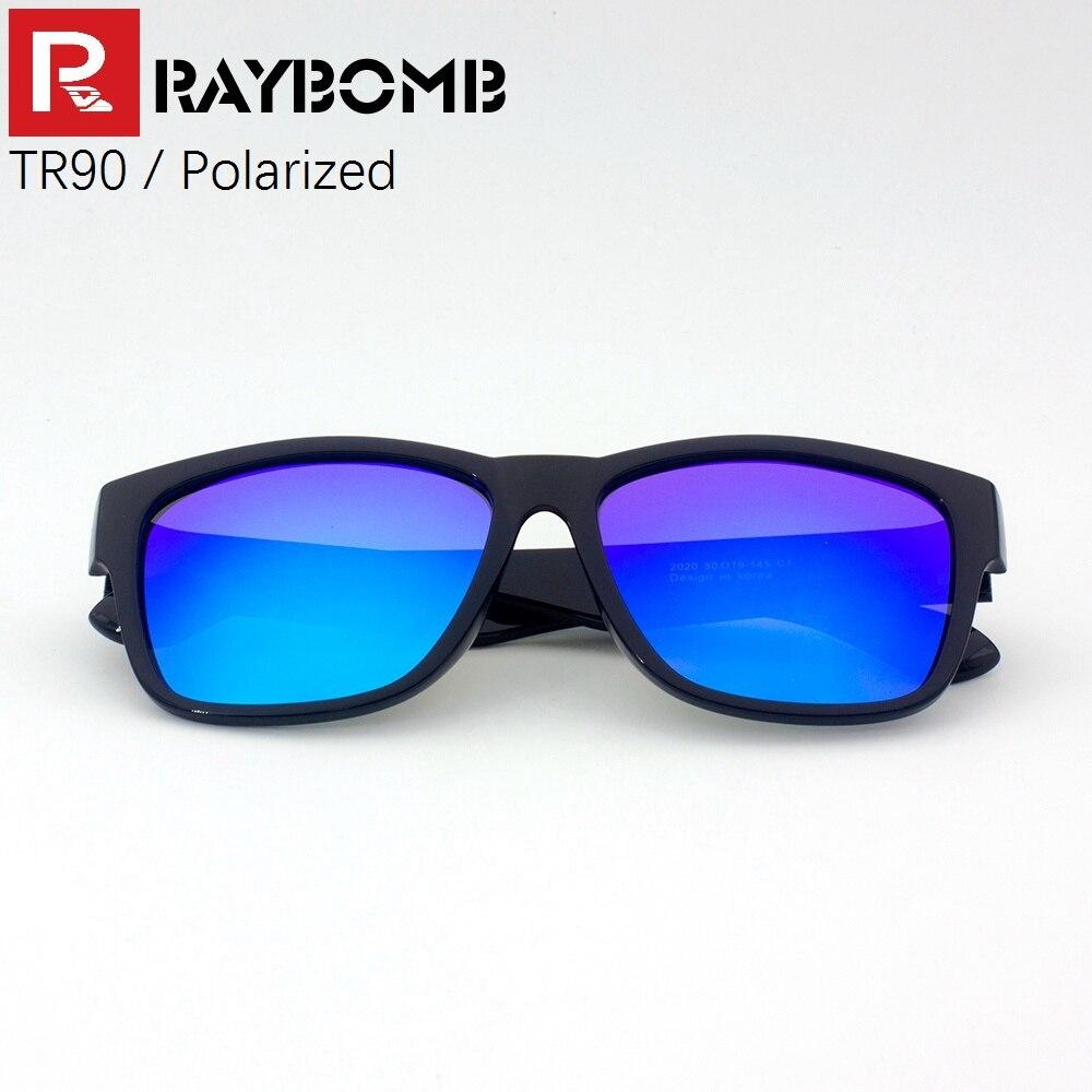 8a611c5155 Raybomb-2016 Nueva polarizado Gafas de sol con tr90 Marcos cuadrado gafas  para hombres mujeres super ligero