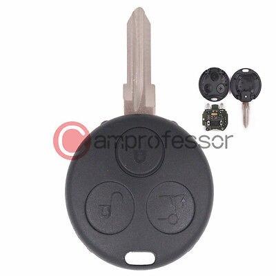 KEYECUNew télécommande non coupée porte-clés 3B pour Smart Fortwo Forfour City avec 2 lumières infrarouges