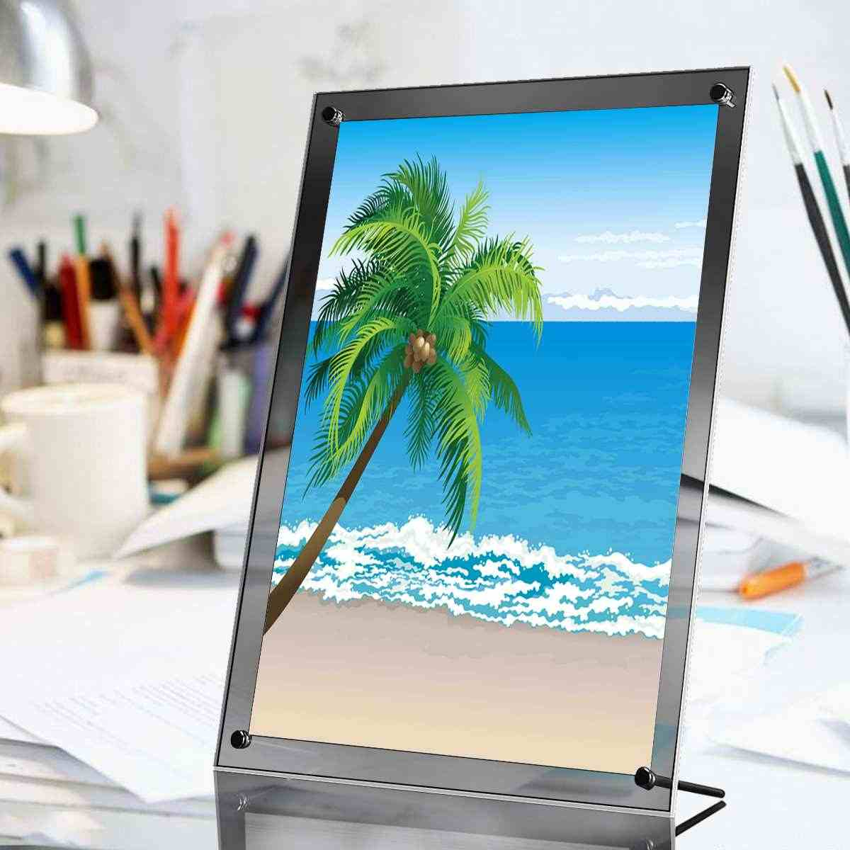 A4 Photo Frame Acrylic Picture Poster Wall Frame Modern Photo Picture Holder Display Wedding Photo Frames for Pictures