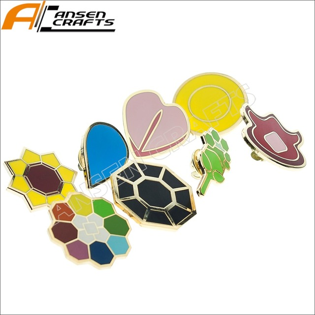 Pokemon Gym Badges Hoenn Gen 3 League Ash Ketchum Cosplay Collection Set Of 8