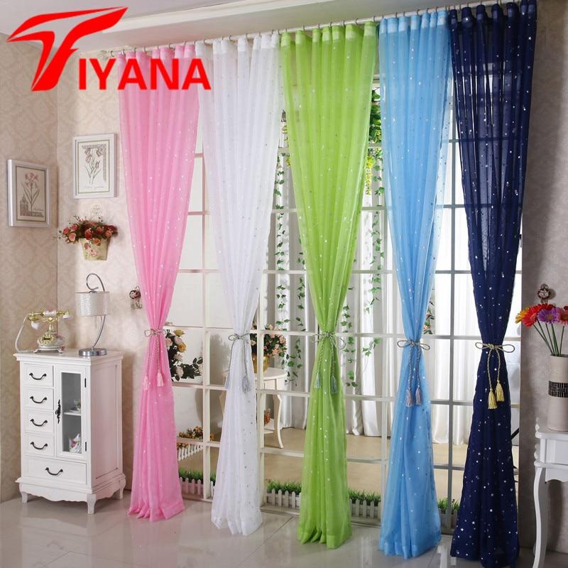 Rainbow Kitchen Decor: Rainbow Stars Desgin Curtain Sheer Window Drapes Bronze