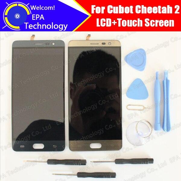 imágenes para Cubot Cheetah 2 Pantalla LCD + Pantalla Táctil 100% Original Nuevo Reemplazo de Cristal Del Panel Digitalizador Probado Para Guepardo 2 + herramientas + Adhesivo