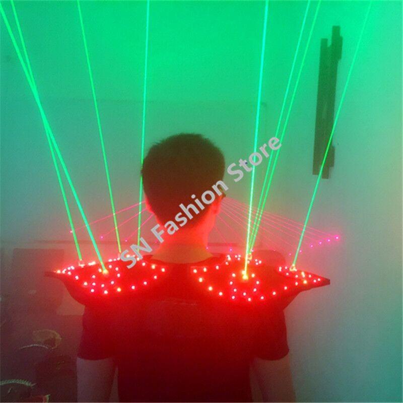 T16 Colorful light ballroom laser vest dj laser costumes dance wears laser glasses red laser suit led clothes shoulder led vest 26