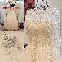 New Arrival Wedding Dress Vestido De Novia Beading Wedding Gowns 2016 Custom Made Lace Up GW10