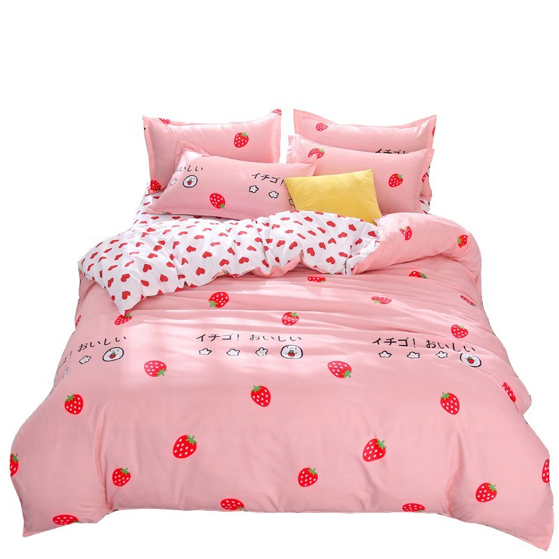 Cozy Cute Frog Cartoon Anime Kids Bedding Soft Comforter Cotton Quilt Bedding Set Twin Bed Sheets for Boys