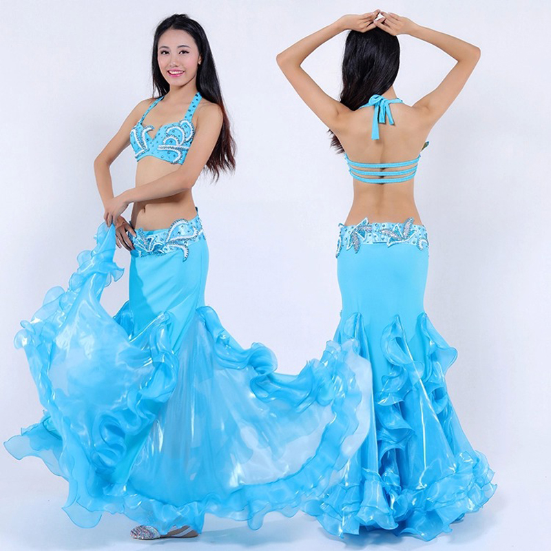 New design 2pieces or 3pieces Luxury Belly Dancing Costumes Sexy tribal belly dance Outfits Suits S