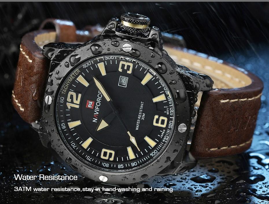 2017 Nouveau Luxe Marque Naviforce Hommes Classique Militaire Montres Hommes de Quartz Date Horloge Homme Poignet Montre de Sport Relogio Masculino 10