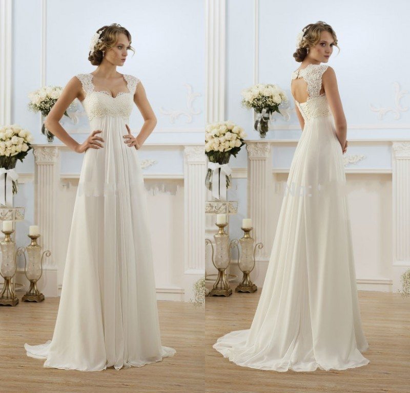 Stunning Beautiful Wedding Dress 2017 Chiffon Beach Dresses Open Back Lace Cap Sleeve Bridal Gown In From Weddings Events On