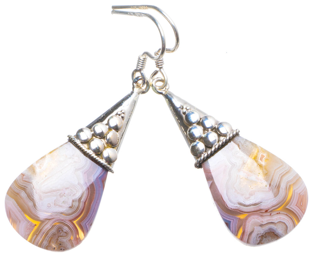 Natural Botswana Agate Handmade Unique 925 Sterling Silver Earrings 2 X4183 tumbled pink botswana agate mostly 5 8 1 1lb bag