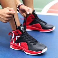 Large Size Men Sneakers Size 39-46 Man   Basketball     Shoes   Spring Autumn Mens High Top Sneakers Black Red Trainers   Shoes   2018