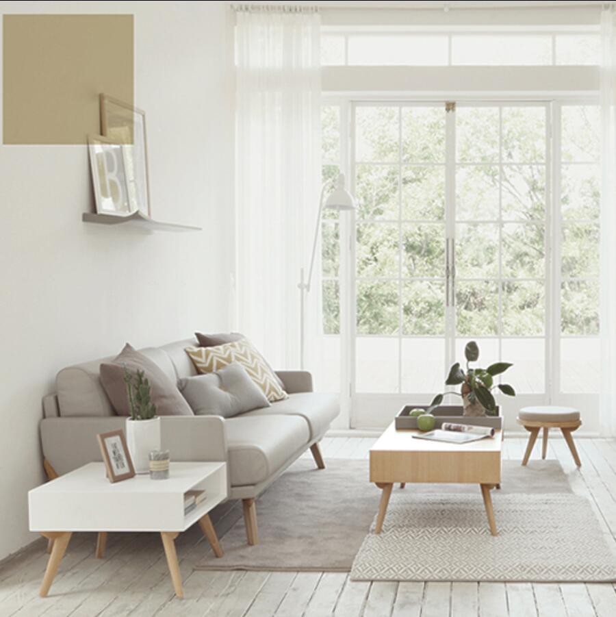 Solid wood Leather sofa small apartment sofa combination three seats ...