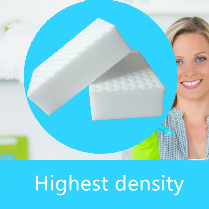 50pcs High Density 10*7*3cm Double Compressed Melamine Sponge Magic Eraser For Kitchen Cleaning Durable Magic Cleaning Sponge