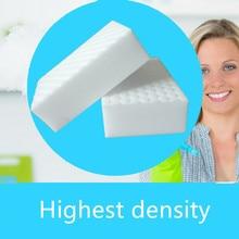 Купить с кэшбэком 50pcs High Density 10*7*3cm Double Compressed Melamine Sponge Magic Eraser For Kitchen Cleaning Durable Magic Cleaning Sponge