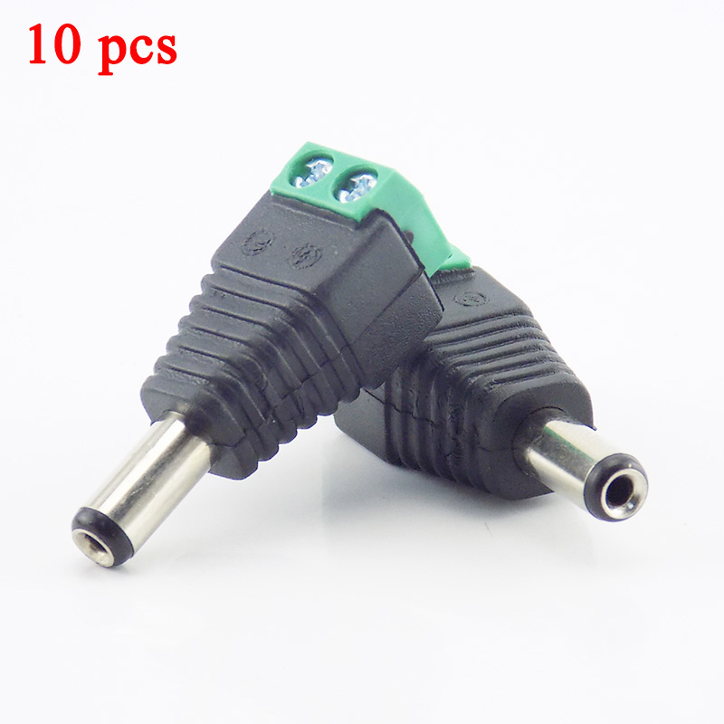 Gakaki 10Pcs 2.1mm DC Male Plug Connector Adapter Power Supply CCTV Accessories For Cctv Camera Security System Video Camera