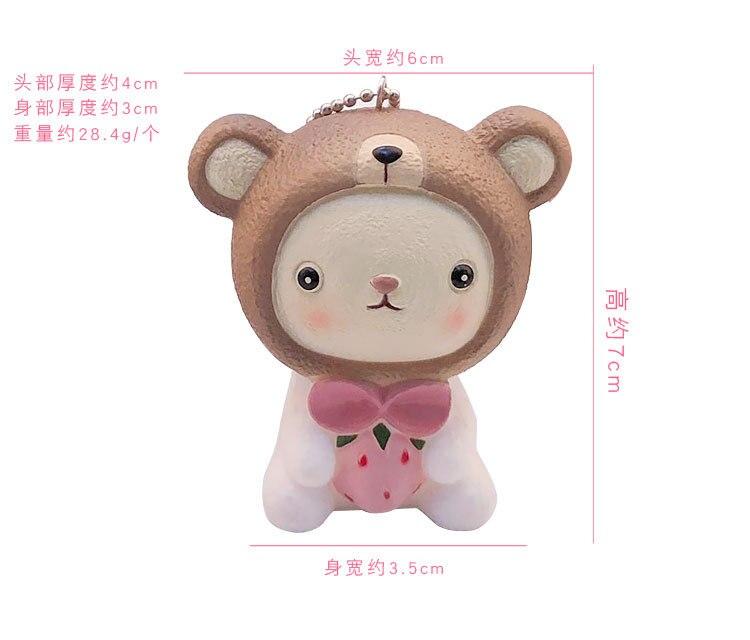 1 Pc Kawaii Plush Cartoon Animal Rilakkuma Bear Rabbit Plush Retractable Keychain Pendant Plush Toy For Men Women Be Friendly In Use Stuffed Animals & Plush