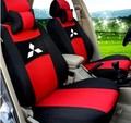 grey/red/blue 3 color Embroidery logo Car Seat Cover Front&Rear complete 5 Seat For Mitsubishi Lancer Galant EVO FORTIS