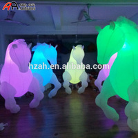 Free Shipping 2.5mH Light Decor Inflatable Horse Costume for Parade Performance