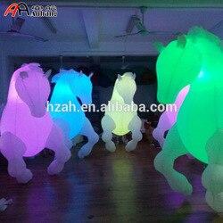 Freies Verschiffen 2.5mH Licht Decor Aufblasbaren Pferd Kostüm für Parade Leistung