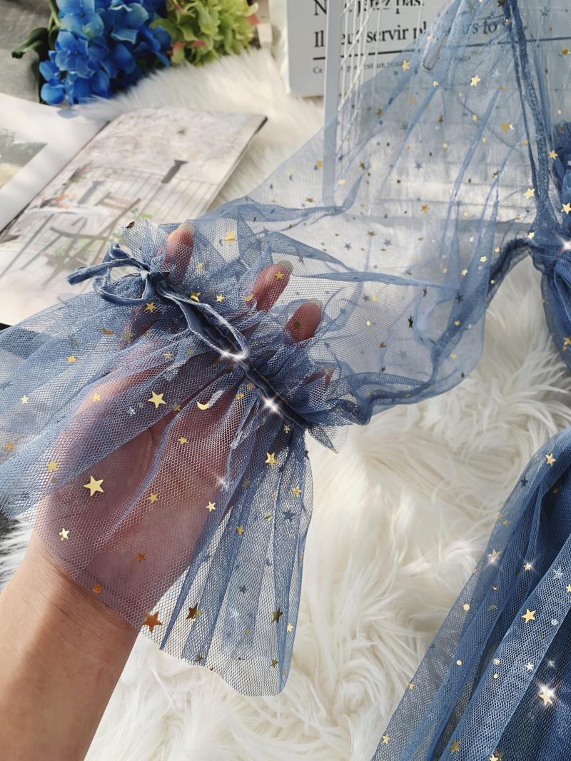 Gauze Two Piece Midi Dress 7