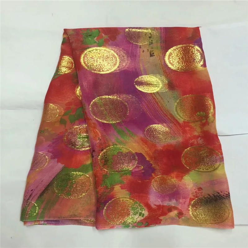 Hot selling african wax pattern stretch satin fabric nigerian bright color wax pattern design Elastic silk