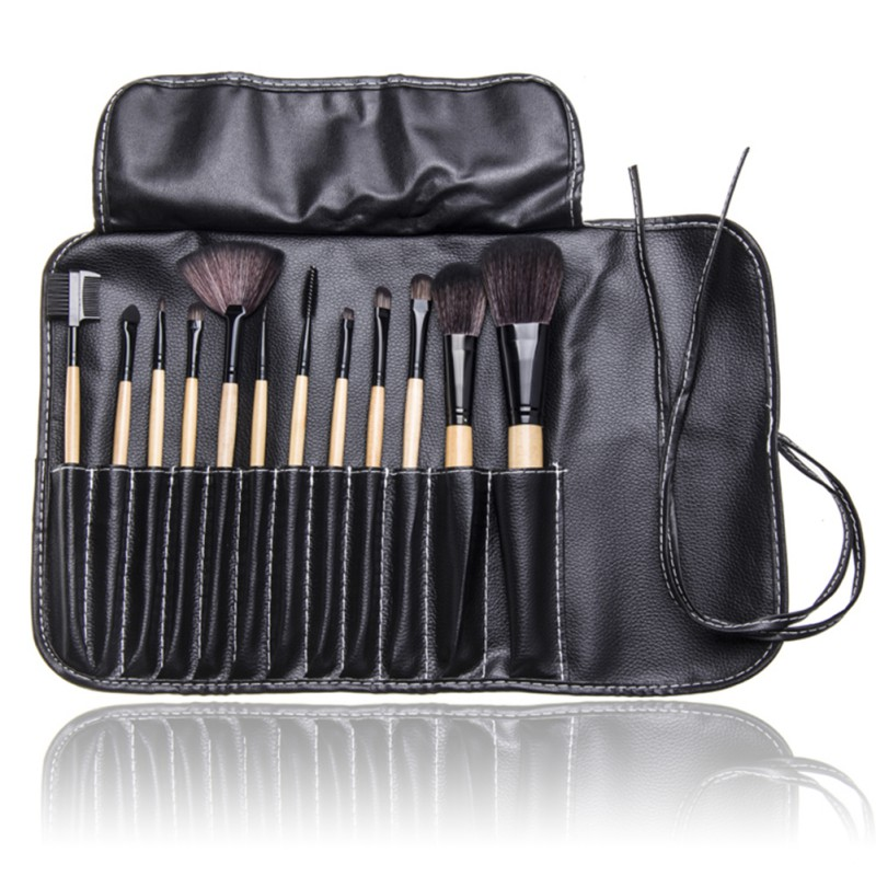 12Pcs/Set Makeup Brushes Sets Professional Eye Shadows Lipsticks Powder Make Up Brushes Tools Bag Foundation Accessories LY4