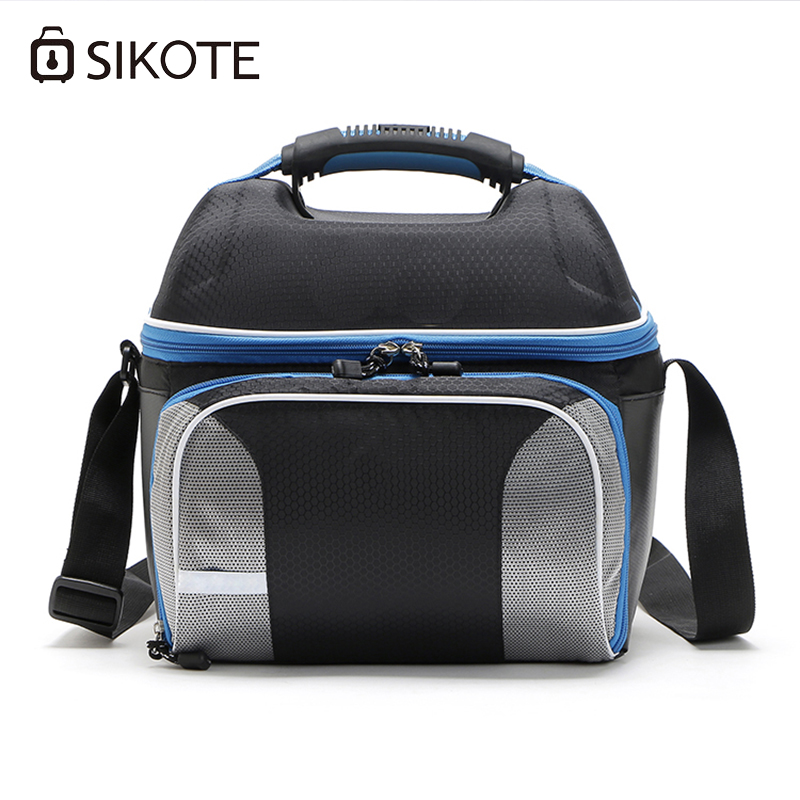 SIKOTE Shoulder Strap Lunch Bag Keep Fresh Portable Picnic Women Work Waterproof Lunch Box Insulation 14L Cooler Bags lunch box lunch picnic bento container cooler bag pack insulation package