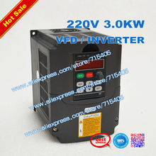 цена на 3KW 220V 2HP Variable Frequency Drive VFD Inverter for 3.0KW spindle 3000W vfd