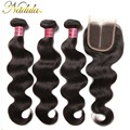 Malaysia Virgin Hair Body Wave With Closure Nadaula Hair Malaysian Body Wave With Closure 7A Malaysian Virgin Hair With Closure