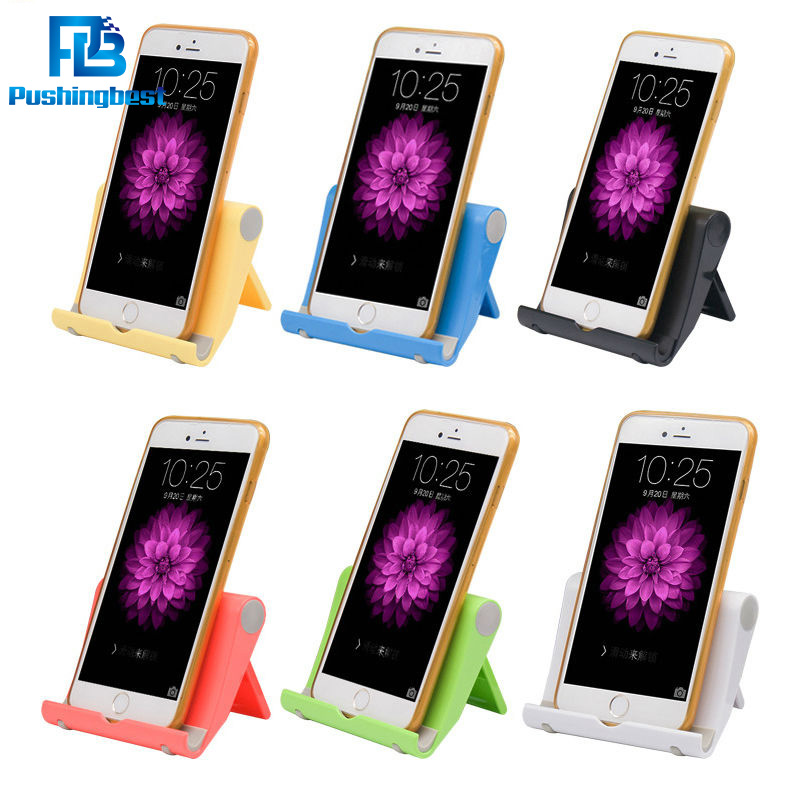 Pushingbest Foldable Phone Stand Holder lazy folding bracket for smartphone tablet Mount Support For iphone 5 6 7or iPad Tablet