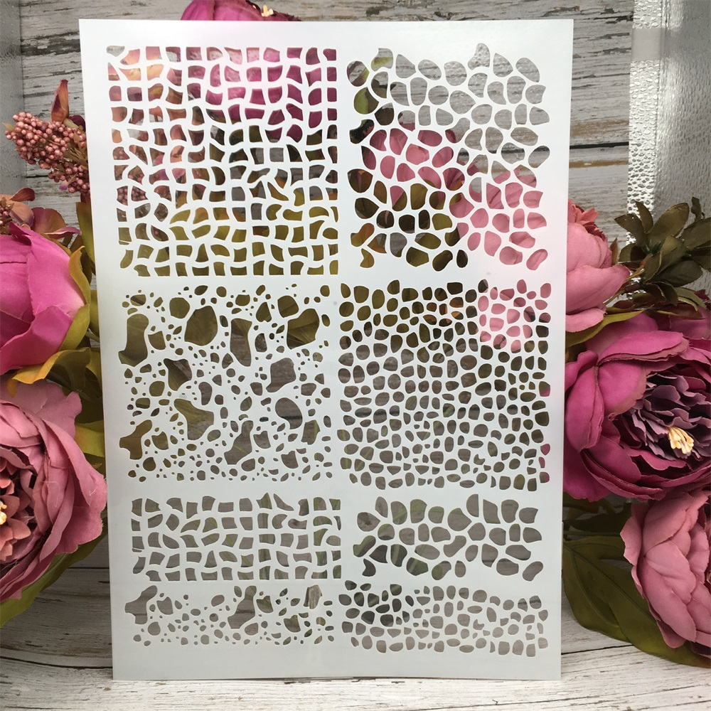 A4 29cm Lines Texture DIY Layering Stencils Wall Painting Scrapbook Coloring Embossing Album Decorative Paper Card Template