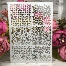 А4 29СМ линии текстуры поделки расслоение трафареты скрап-настенная роспись раскраски выбивая альбом декоративные шаблон бумаги карты