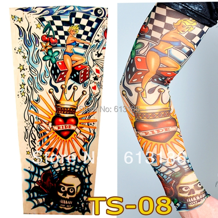 Wholesale 2018 Women /Men Love To Ride Cycling Arm Warmers Tattoo Sleeves For Bikers.More 140 Styles Can Choose